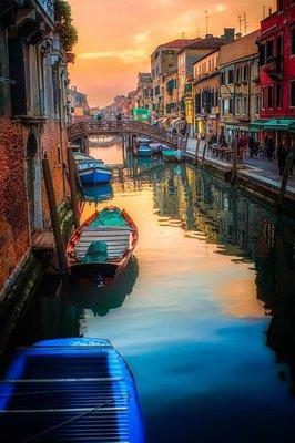 """РН GX22372 """"Лодки на канале в Венеции"""", 40х50 см"""