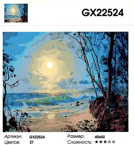 """РН GX22524 """"Луна над морем"""", 40х50 см"""