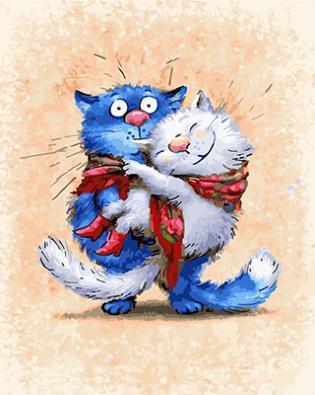 """РН GX 22575 """"Кошка на руках у кота"""", 40х50 см"""