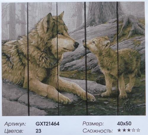 """РД GXT21464 """"Волчица с волчонком"""", 40х50 см"""