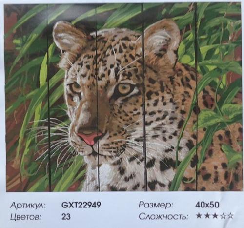 """РД GXT22949 """"Леопард в траве"""", 40х50 см"""