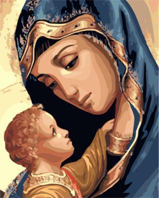 "РН GX23444 ""Дева Мария с ребенком"", 40х50 см"