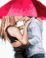 """РН GX23591 """"Пара целуется под зонтом"""", 40х50 см"""