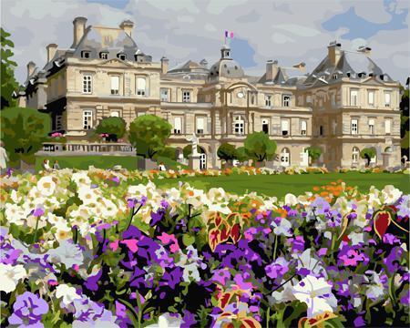 """РН GX23742 """"Цветы на поляне перед дворцом"""", 40х50 см"""