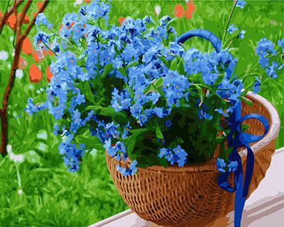 "РН GX23894 ""Синие цветы в корзине"", 40х50 см"