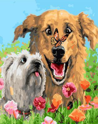 "РН GX23895 ""Собака с бабочкой на носу"", 40х50 см"