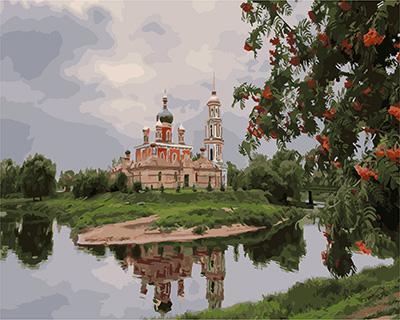 """РН GX24031 """"Храм у реки"""", 40х50 см"""
