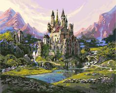 """РН GX24257 """"Замок в горах у реки"""", 40х50 см"""