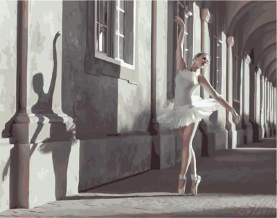 """РН GX25124 """"Балерина в городе"""", 40х50 см"""