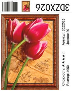 """АМ3D 026 """"Три тюльпана"""", 40х50"""