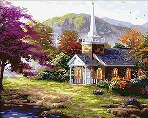 """РН GX7112 """"Маленькая церковь в горах"""", 40х50 см"""