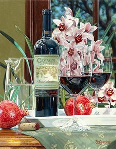 """РН GX26826 """"Вино, гранаты, розовые цветы"""", 40х50 см"""