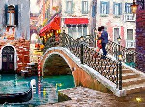 "РН GX26807 ""Пара на мосту в Венеции"", 40х50 см"