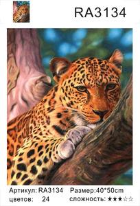 "РН RA3134 ""Леопард отдыхает на дереве"", 40х50 см"