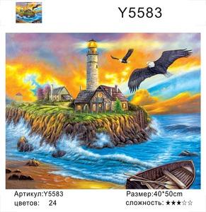 "РН Y5583 ""Маяк, лодка, два орла"", 40х50 см"