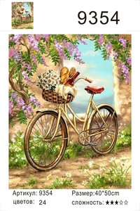 """РД 9354 """"Велосипед с корзинкой"""", 40х50 см"""