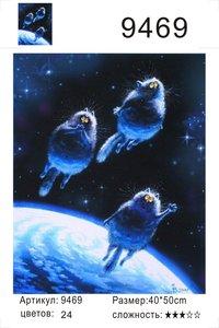 """РД 9469 """"Три кота летят в космос"""", 40х50 см"""