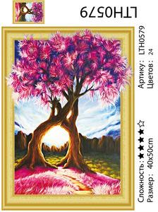 """АМ3D LTH0579 """"Влюбленные деревья"""", 40х50"""