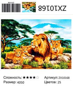 """АМ45 ZX10168 """"Львиная семья"""", 40х50 см"""