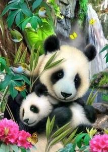 """ВК2027 """"Панда-мама с малышом"""" 39х48 см"""