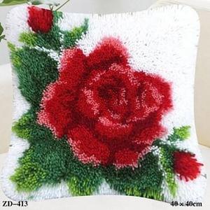 """ZD-413 """"Роза на белом фоне"""", 40х40 см"""