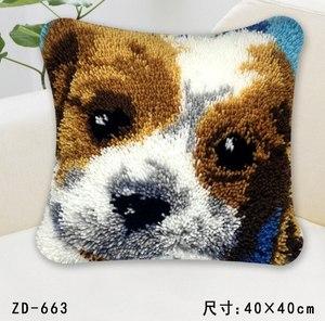 """ZD-663 """"Лицо щенка на всю подушку"""", 40х40 см"""