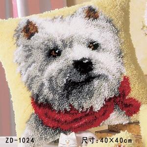 "ZD-1024 ""Болонка в красном шарфе"", 40х40 см"