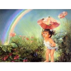 """РН GX7052 """"Ангелочек с зонтиком из мака"""", 40х50 см"""
