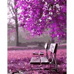 """РН G366 """"Лавочка под лиловым деревом"""", 40х50 см"""