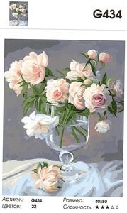 """РН G434 """"Белые розы в фужере"""", 40х50 см"""