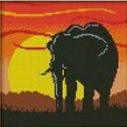 """АРМ DF105 """"Слон на закате"""", 30х30 см"""