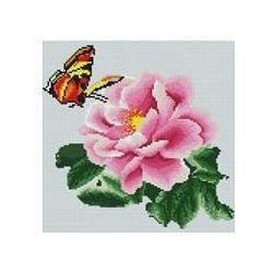 """АРМ DF118 """"Бабочка на розовом цветке"""", 30х30 см"""
