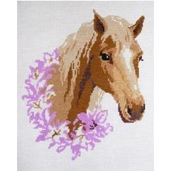 "АРМ EF021 ""Лошадь с розовым венком"", 30х40 см"
