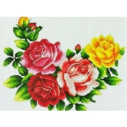 """АРМ EF133 """"Красные и желтая розы"""", 30х40 см"""