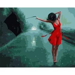 """РН GХ3378 """"У девушки сдувает зонт"""", 40х50 см"""
