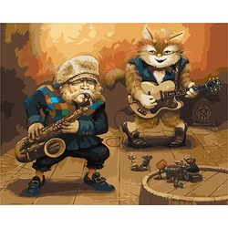 "РН GХ3431 ""Кошаче-мышиный концерт"", 40х50 см"