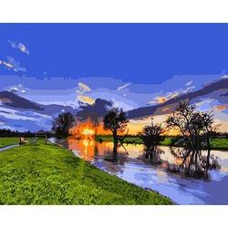 "РН GХ3121 ""Рассвет на реке"", 40х50 см"