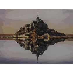 "РЗ EХ5468 ""Замок на берегу озера"", 30х40 см"