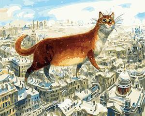 """РН GХ4449 """"Кот идет по крышам"""" , 40х50 см"""