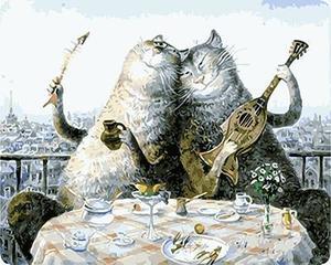 """РН GХ4582 """"Два кота пируют"""" , 40х50 см"""