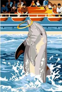 "РЗ EХ5660 ""Дельфин крутит кольцо"", 30х40 см"