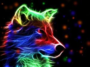 "РН GХ5328 ""Неоновая собака"", 40х50 см"