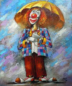 """РН GХ5416 """"Клоун под зонтом"""", 40х50 см"""