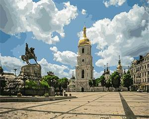 """РН GХ4868 """"Памятник у церкви"""", 40х50 см"""