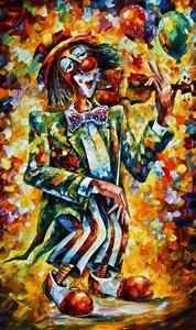 """РН GХ5329 """"Клоун играет на скрипке"""", 40х50 см"""