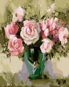 """РН GХ5249 """"Розы в зеленой вазе"""", 40х50 см"""
