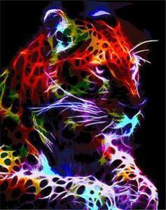 "АРМК45 11073 ""Леопард лежит на лапах"" , 40х50 см"