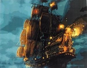 """АРМК45 11107 """"Пиратский корабль"""" , 40х50 см"""