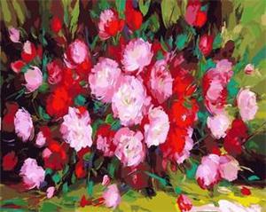 """РН GX5434 """"Красно-розовый букет"""", 40х50 см"""