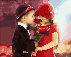 "РН GX5508 ""Мальчик дарит розу девочке"", 40х50 см"
